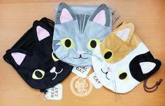 Adorable pochettes en peluche / sac à cordons ~~ Pour ranger vos petits objets ~~:D Ce petit sac qui vient de Tokyo est teeeeellement doux et de super bonne qualité !! =^w^= vous n'en trouverez que chez nous !;) - boutique kawaii en ligne www.chezfee.com