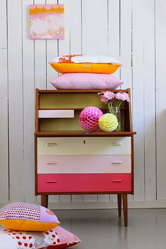 a great way to freshen up vintage furniture