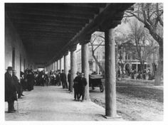 Palace of the Governors Photo Archives, negative number 42667, Band concert under portal, 1915? Photo by Jesse Nusbaum