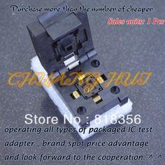 90.00$  Buy here - http://alihug.worldwells.pw/go.php?t=1631121489 - IC TEST NEW QFN11T032-003 test socket QFN32 DFN32 WSON32 MLF32 socket Pitch=0.5mm size=5*5mm 90.00$