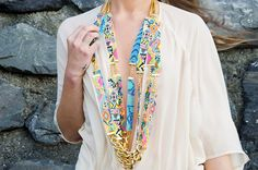 Items similar to Designer statement necklace - Sea Candy - Handmade long woven seed bead Aztec print necklace with chunky gold chain. on Etsy Candy Necklaces, Handmade Necklaces, Welsh Jewellery, Diy Jewelry, Jewelry Design, Long Weave, Beaded Statement Necklace, Summer Jewelry, Pink Color