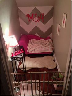 Would love to have a little nook for my new puppy...love this idea.