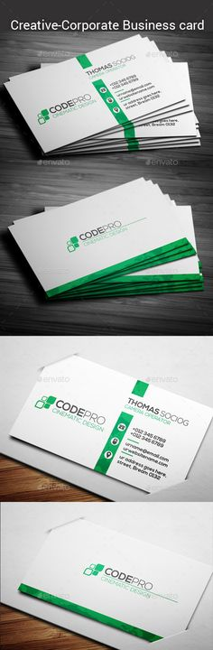 Corporate Business Card - Corporate Business Card Template PSD. Download here: http://graphicriver.net/item/corporate-business-card/11891639?s_rank=1781&ref=yinkira