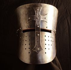 Crusader Helmet Century on Behance Elmo, Battle Of Hattin, Crusader Helmet, Kingdom Of Jerusalem, Early Middle Ages, Bow Arrows, Medieval Times, Knights Templar, 12th Century