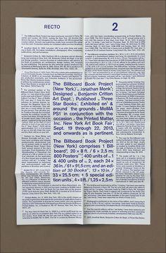 giorkonducta: Jonathan Monk - The Billboard Book Project (New York) 2013 | 6.9