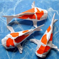 Origami animal sculptures by matthieu georger for Ang pao fish tutorial