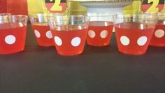 Mickey Mouse Jello at Mickey Mouse Party.