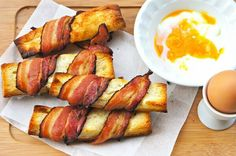 """""""FoodPorn: Bacon Toasts """" kanye east egg and soldiers vamped up"""