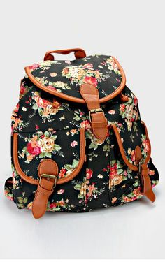 Shabby Chic Backpack in Black