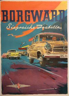 #Borgward #Isabella #original #vintage #poster  manifesti originali d'epoca www.posterimage.it