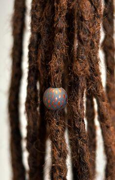 Bronze X.- korálek do dredů / Zboží prodejce Bíds. My Design, Dreadlocks, Bronze, Beads, Hair Styles, Beading, Hair Plait Styles, Hair Makeup, Bead