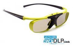 Hi-SHOCK® Lime Heaven [DLP Link 3D Brille für Largo, Acer, Benq & Optoma Beamer]