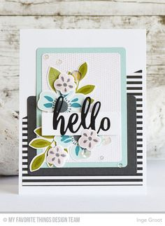 Patterned Paper : May MFT Card Kit Release - Flashy Florals. fabulous color combination with soft shades and charcoal.