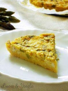 Farifrittata di ceci con asparagi e tofu