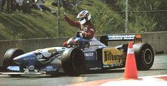 Michael Schumacher & Jean Alesi, 1995 Canada GP (Alesi's only F1 victory)