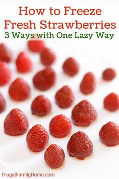 Strawberry Muffin Recipes, Strawberry Fruit, Freezing Strawberries, Frozen Strawberries, Food Hacks, Food Tips, Cooking Tips, Chicken Pork Recipe, Home Canning Recipes