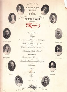 Menu 16 December 1906 -  Royal and Knightly Main Guild of Sint Michiel - Ghent 293th Annual banquet #booktower