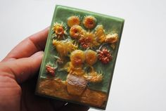 Handmade inspired 'Sunflowers' parody Soap  Vincent by NerdySoap