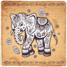 depositphotos_46187697-Vintage-elephant-illustration.jpg (1022×1024)