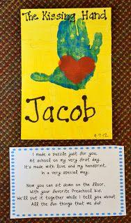 Handprint Puzzle & Poem #1stdayofschool #backtoschool #keepsake