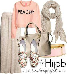 Hashtag Hijab Outfit Oh myyyy! Can i go to school like this? Hijab Casual, Hijab Outfit, Hijab Chic, Hijab Wear, Islamic Fashion, Muslim Fashion, Modest Fashion, Fashion Outfits, Modest Wear