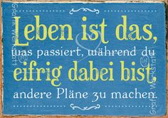 Art.Nr. 9327: Postkarte - Leben The Words, Cool Words, Words Quotes, Life Quotes, Sayings, Inspirierender Text, Well Said Quotes, Something To Remember, Word Of Advice
