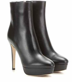 Maggie 115 platform leather ankle boots   Jimmy Choo
