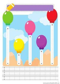 Trace the Dotted Lines Worksheets for Kids - Preschool and KindergartenPreschool Crafts | Mobile Version