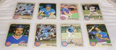 MLB 1983 Set of 8, Chicago Cubs, Fleer Baseball Cards, Dickie Noles, #ChicagoCubs