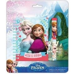 Libreta Frozen Disney + Boligrafo