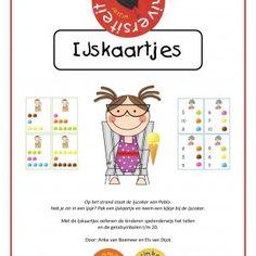 IJskaartjes - Oefen het tellen en de getalsymbolen met deze leuke ijskaartjes. Daarnaast bevat het pakket vele extra suggesties.
