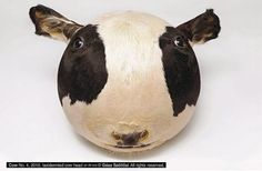 Inflatable cow's head, anyone? This piece gives me a slight sense of unease... by Géza Szöllősi.