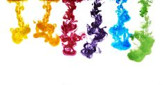 Ink in water - www.larssohl.dk Rainbow colors in water!