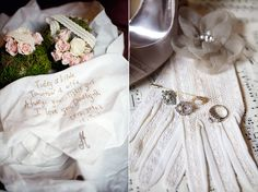 a sweet letter to dad on a hankie from the bride