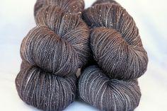 Starry Night hand-dyed sock yarn by Shasta Daisy Knits - so pretty!