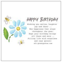 Birthday Wishes Greeting Cards, Happy Birthday Wishes Messages, Birthday Wishes Girl, Free Happy Birthday Cards, Happy Birthday Notes, Happy Birthday Quotes For Friends, Birthday Poems, Birthday Card Sayings, Happy Birthday Sister