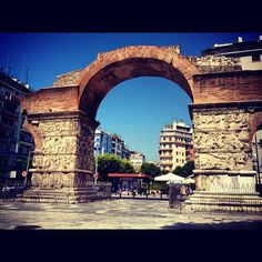 Arch of Galerius (Kamara) Greece Thessaloniki, Macedonia, Four Square, Big Ben, Trips, Louvre, Architecture, Building, Places