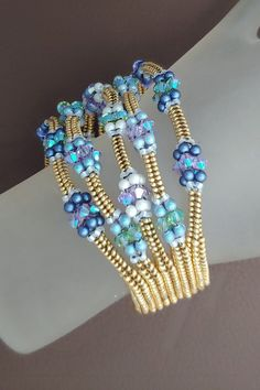 Beads And Wire, Metal Beads, Stone Beads, Bead Embroidery Tutorial, Bead Embroidery Patterns, Seed Bead Jewelry, Beaded Jewelry, Seed Beads, Jewellery