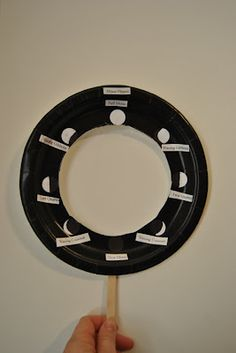 Moon Phases Plate- Can't find this activity on the site the picture is linked to, but am sure I could use the picture to do something similar. Would want to write something on stick indicating where the sun would be.