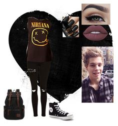 """Luke hemmings look"" by xxcathatesyouxx ❤ liked on Polyvore featuring Topshop, NTD, Converse and Lime Crime"