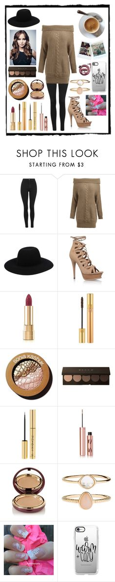 """""""Untitled #28"""" by cmcsaxon ❤ liked on Polyvore featuring Topshop, Off-White, Yves Saint Laurent, Dolce&Gabbana, Sonia Kashuk, Charlotte Tilbury, Wander Beauty, Accessorize, Casetify and Polaroid"""