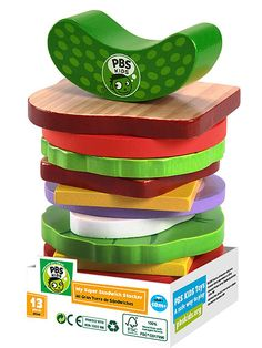 I Want That! Gifts for Every Type of Kid, from $5 to $500 | UNDER $25: ECO TOYS | When little hands reach for this toy at the grocery store, you won't mind the impulse buy. PBS Kids teamed with Whole Foods on an exclusive line of Earth-friendly, educational playthings, including this non-toxic sandwich stacker that toddlers will definitely sink their teeth into. Buy It Now! PBS Kids wooden toy sandwich stacker, $11.99, available at Whole Foods Markets and pbskids.org