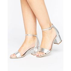 ALDO Villarosa Leather Block Heel Sandals (255 BRL) ❤ liked on Polyvore featuring shoes, sandals, silver, aldo sandals, embellished wedge sandals, block-heel sandals, ankle strap wedge sandals and embellished sandals