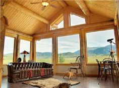 Inside my dream house in Montana...