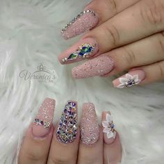 You've probably noticed a movement toward bare-ish nails lately. (Call it the anti-nail art, if you will.) The 2 of the biggest nail trends to emerge from the Spring/ Summer 2018 runway shows are the graphic art and matte metallic nails. Glam Nails, 3d Nails, Bling Nails, Matte Nails, Stiletto Nails, Love Nails, Beauty Nails, Coffin Nails, Sparkly Nails