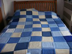 Blanket hand knitted for my daughter. Hand Knitting, To My Daughter, Quilts, Blanket, Bed, Home, Stream Bed, Quilt Sets, Ad Home