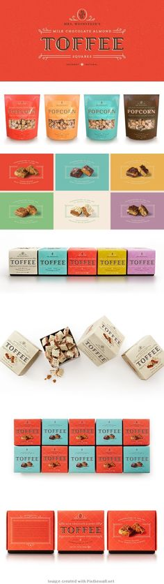 Mrs. Weinstein's Toffee Packaging || Simply Delicious