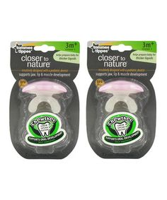 Look what I found on #zulily! Pink Stage 1 Chewther - Set of Two by tommee tippee #zulilyfinds