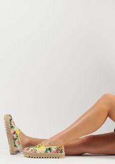 5e848b5660c0 Sixtyseven - Dina Platform Espadrille Monet Yellow Fabric - Jildor Shoes  Yellow Fabric