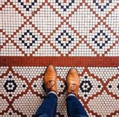 Tile and shoes